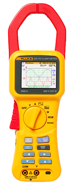 Fluke 345 Power Quality Clamp Meter Gallery Image