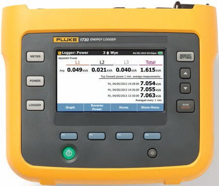 Fluke 1730 Three Phase Electrical Energy Logger Gallery Image