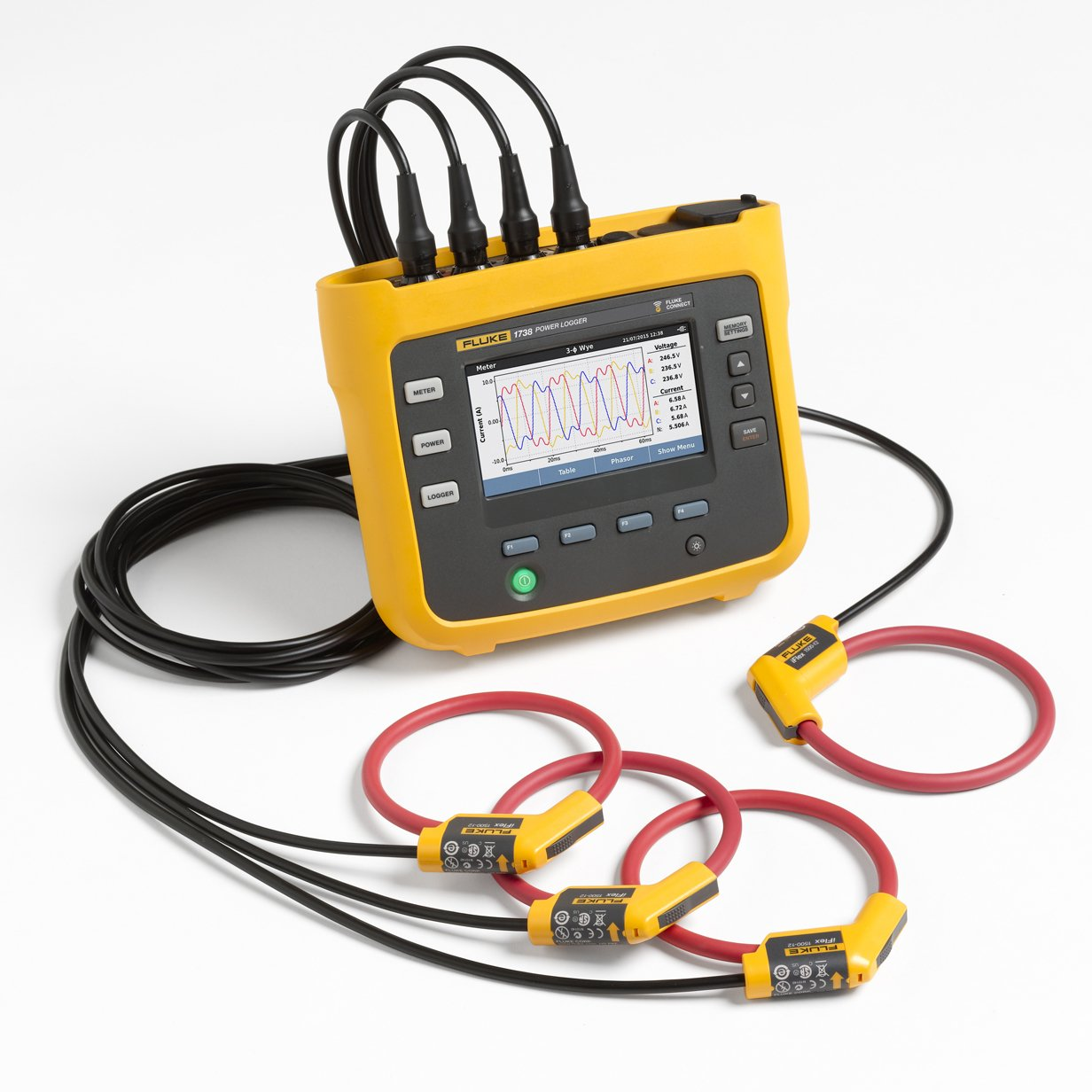 Three Phase Electricity Meter : Portable power meters in ireland fluke unipower gossen